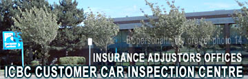 photo of ICBC car inspection centre where insurance adjustors meet with accident claimants -
